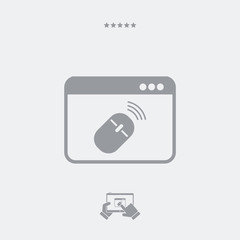 Wireless mouse installation icon