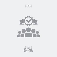 Perfect team flat icon