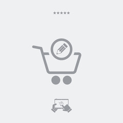 Shopping notes flat icon