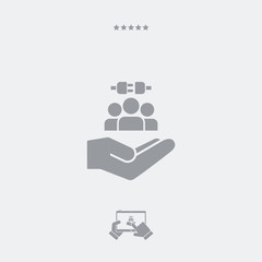 Service offer - Network connection - Minimal icon
