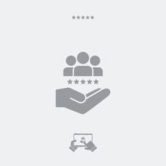 Service offer - Best team - Minimal icon