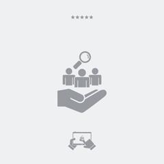 Staff recruitment service - Minimal icon