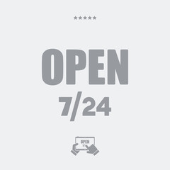 Store open 7/24 - Vector web icon
