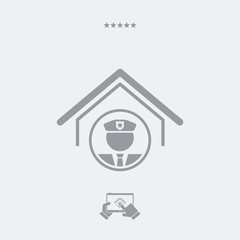 Steady police and security service - Vector web icon