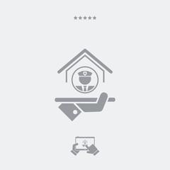 Protection services - Vector web icon