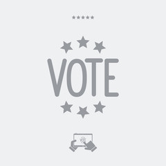 Vote concept - Vector web icon