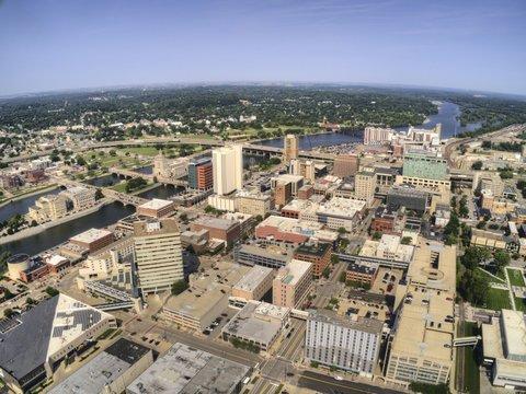 Aerial View of Cedar Rapids, Iowa during Summer
