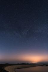 Nuit étoilée sur le lac du Temple