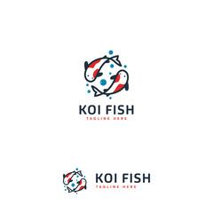 Koi Fish logo designs, Modern koi logo template