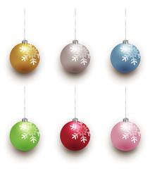 クリスマス ボール 飾り アイコン