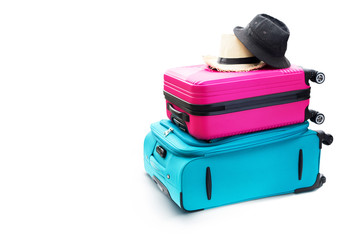 Blue Pink Trunks Suitcases Luggage Travel Things