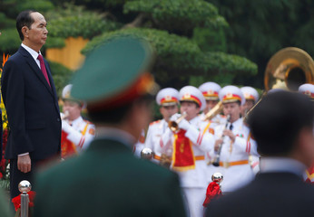Vietnam's President Tran Dai Quang attends a ceremony at the Presidential Palace in Hanoi