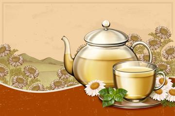 Organic chamomile tea ads
