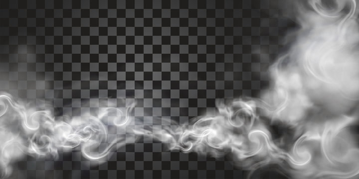 Smoke floating in the air