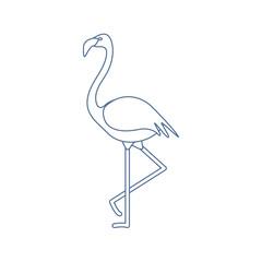 Exotic tropical bird flamingo.