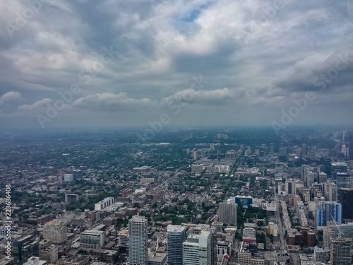 Looking Out From Inside The Cn Tower In Toronto Stock Photo And