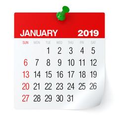 January 2019 - Calendar.