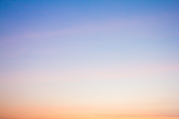Twilight sky with cloud at sunset Abstract background