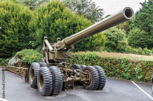 Beautiful view of a WWII 155 mm Gun M1 (aka Long Tom, M59