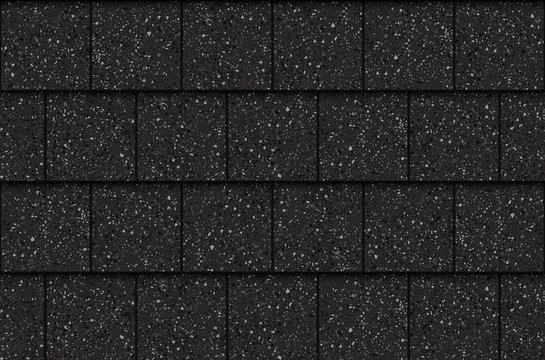 Asphalt roof shingles, seamless pattern. Squares, vector illustration