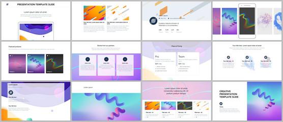 Minimal presentations, portfolio templates. Simple elements on white background. Brochure cover vector design. Presentation slides for flyer, leaflet, brochure, report, marketing, advertising.