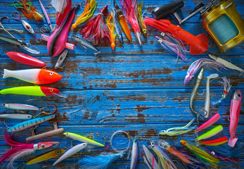 Fishing lures tackle collection minnows