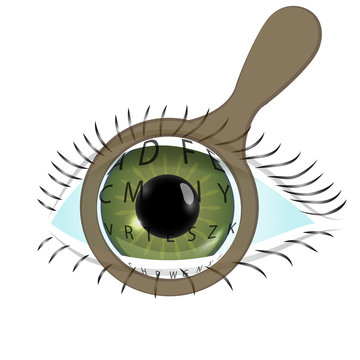 World sight day concept background. Flat illustration of world sight day vector concept background. The image of an eye.