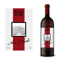Modern Vector wine label