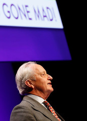 Neil Hamilton speaks during the UKIP party conference in Birmingham