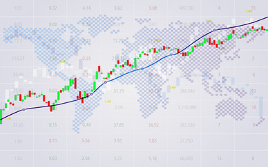 Candle stick of stock market exchange graph