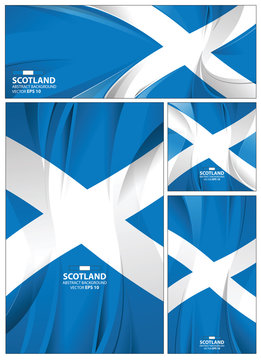 Abstract Scotland Flag Background