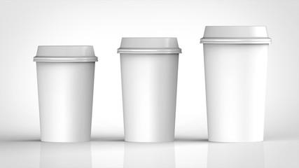 コーヒーカップ 3サイズ 白 正面