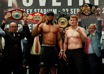 Anthony Joshua & Alexander Povetkin Weigh-In