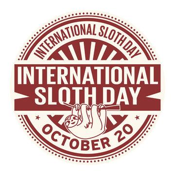 International Sloth Day, October 20