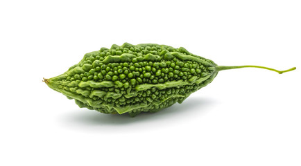 Bitter melon or Bitter Gourd isolate on the white background, healthy food