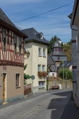 View to the german village Runkel