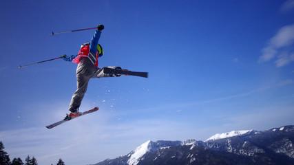 sport de  glisse hiver - ski freestyle
