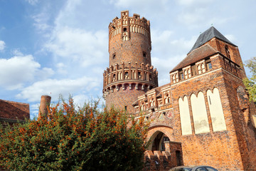 old townwall gate tower of Tangermuende (Germany)