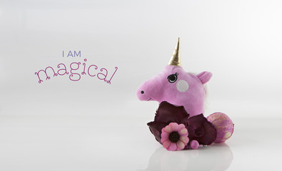 Cute Unicorn Card Template Design