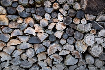 WoWood Cut Texture Pile Firewood Nature Wallpaper