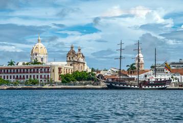 Fotorolgordijn Zuid-Amerika land View of Cartagena de Indias, Colombia