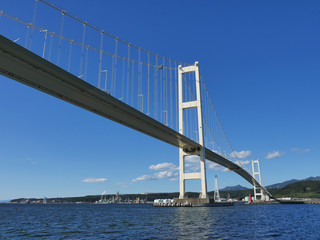 吊り橋 北海道白鳥大橋