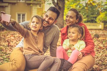 Memory this moment. Family. Autumn season.