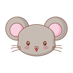cute face mouse cartoon animal