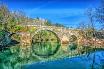 Ponte medieval de Fillaboa (San Lourenzo de Salvaterra, Pontevedra, España))