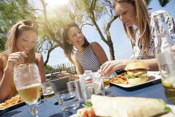 Summer lunch with friends