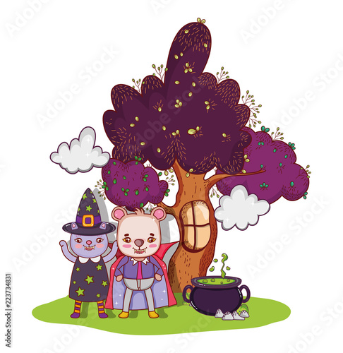halloween animals cartoons stock image and royalty free vector