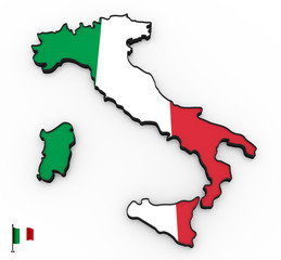 Italy high detailed 3D map