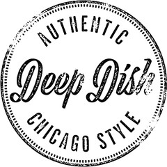 Authentic Deep Dish Pizza Stamp