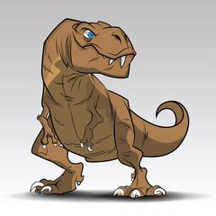 Tyrannosaurus Rex Dinosaur art tattoo concept.